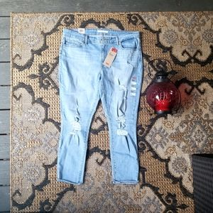 Levi's 711 skinny Jean's distressed 18 34in